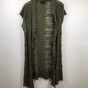 Calvin Klein Dark Olive Green Boho Vest
